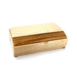 MIKUTOWSKI WOODWORKING MAPLE & SHEDUA TREASURE BOX