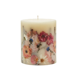 ROSY RINGS APRICOT ROSE SMALL ROUND BOTANICAL CANDLE