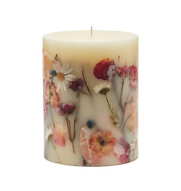 ROSY RINGS APRICOT ROSE MEDIUM ROUND BOTANICAL CANDLE