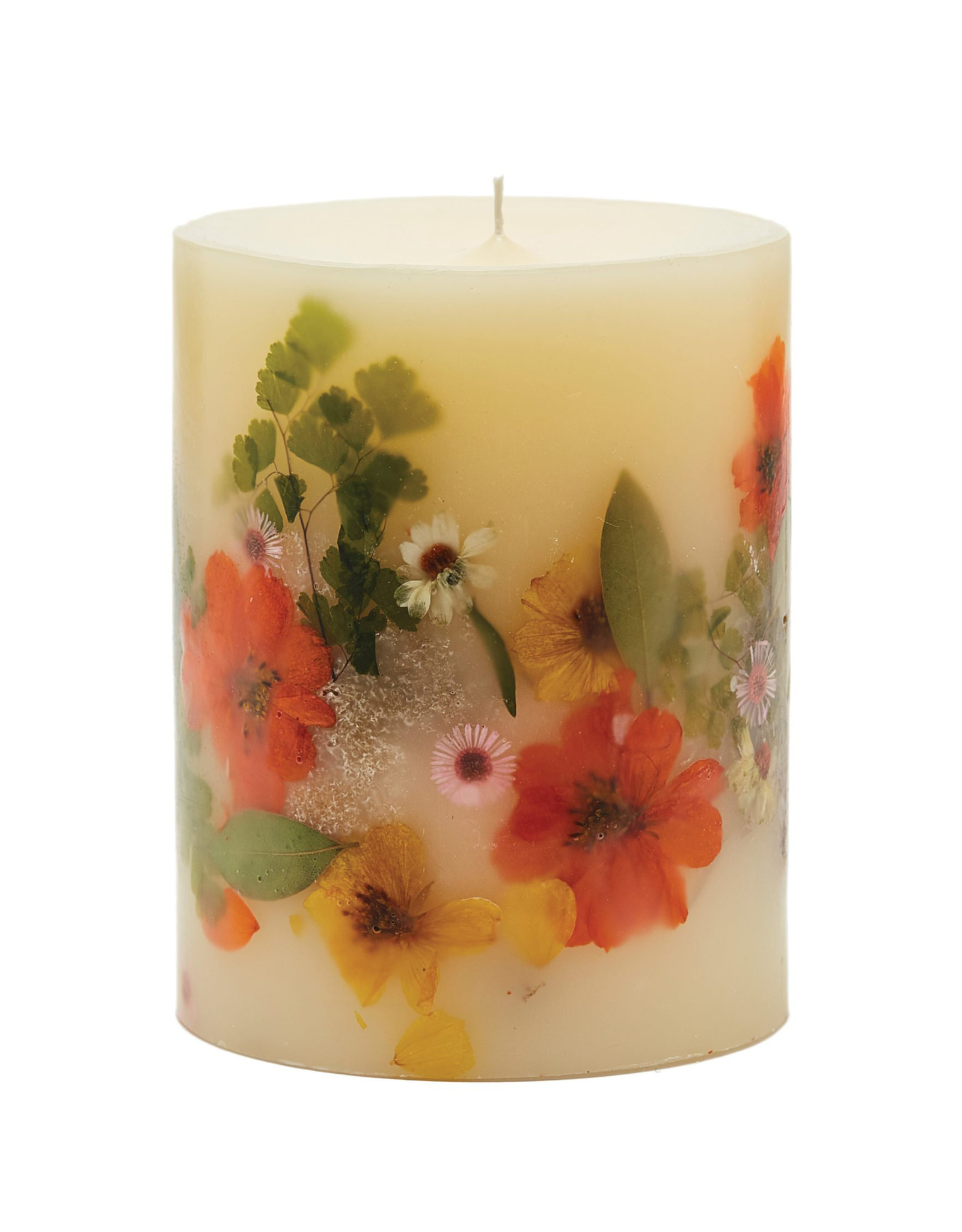 ROSY RINGS PEONY & POMELO MEDIUM ROUND BOTANICAL CANDLE
