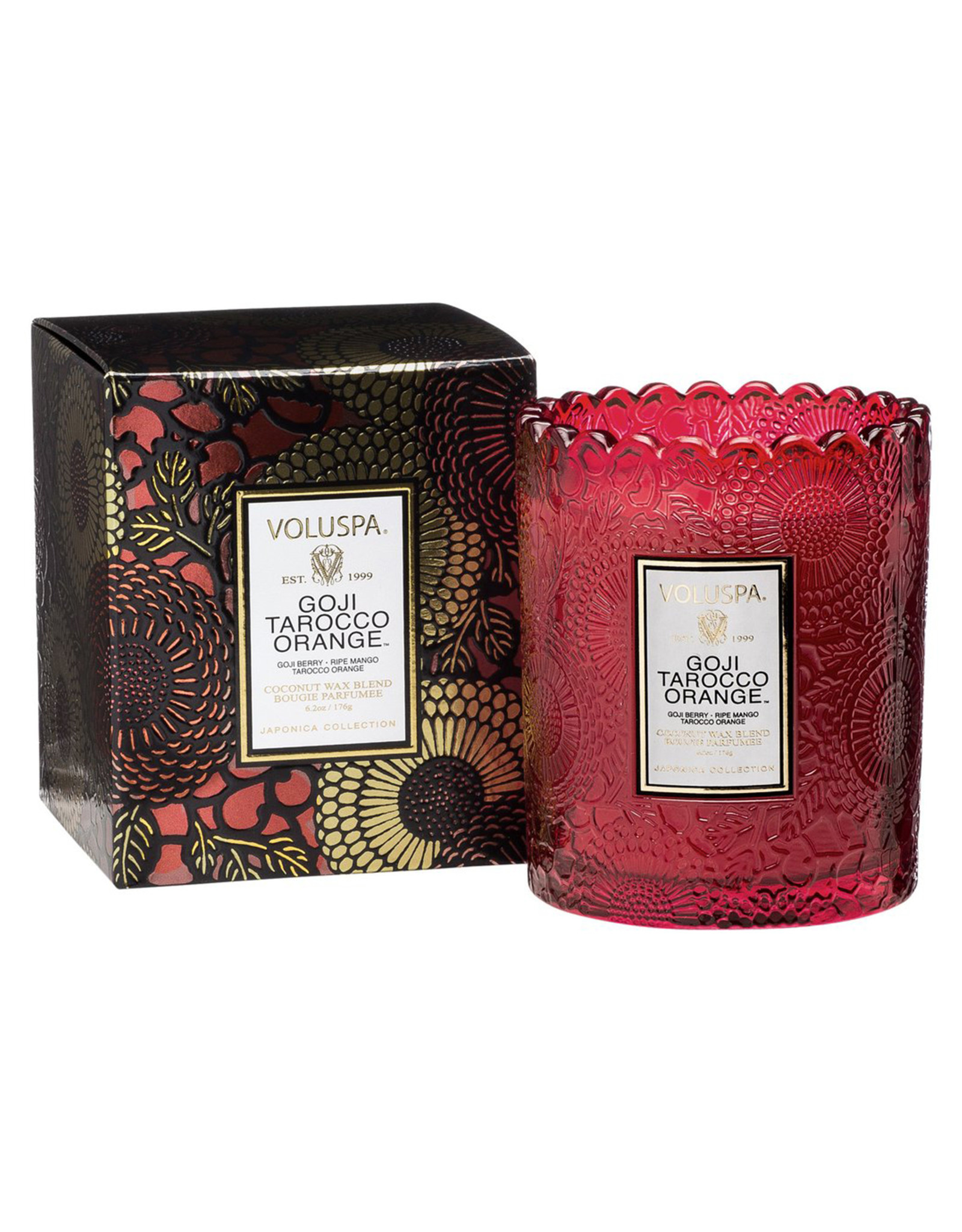 VOLUSPA GOJI TAROCCO ORANGE SCALLOPED EDGE CANDLE