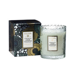 VOLUSPA FRENCH CADE LAVENDER SCALLOPED EDGE CANDLE