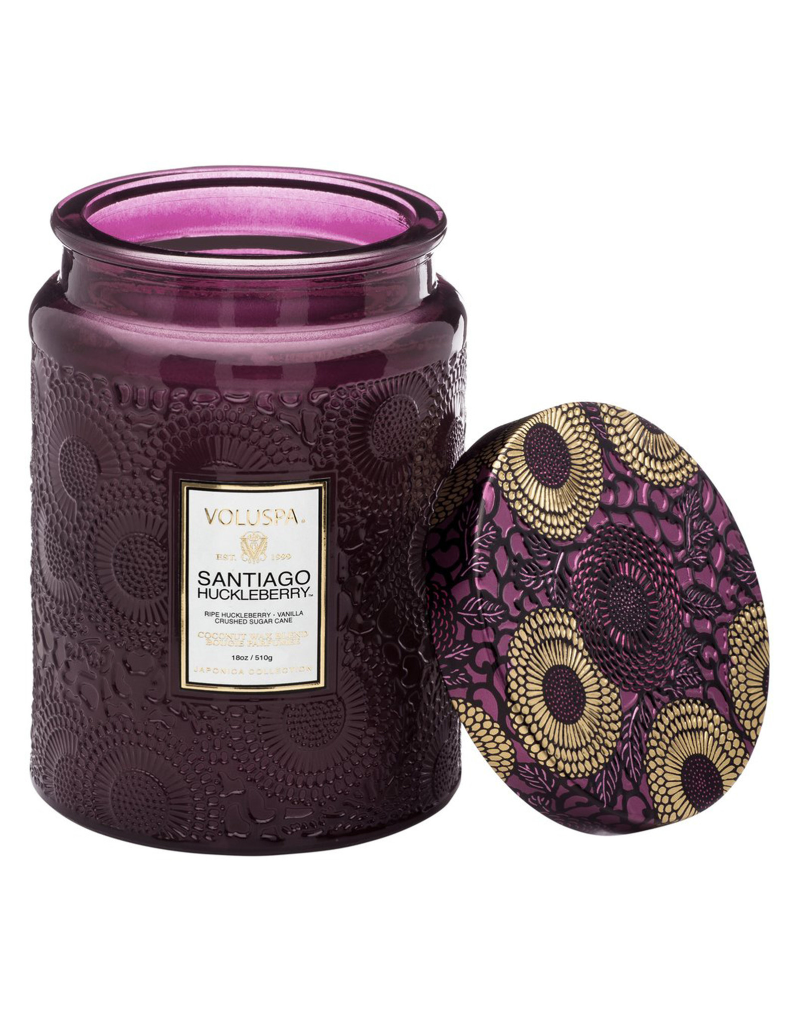 VOLUSPA SANTIAGO HUCKLEBERRY LARGE JAR CANDLE