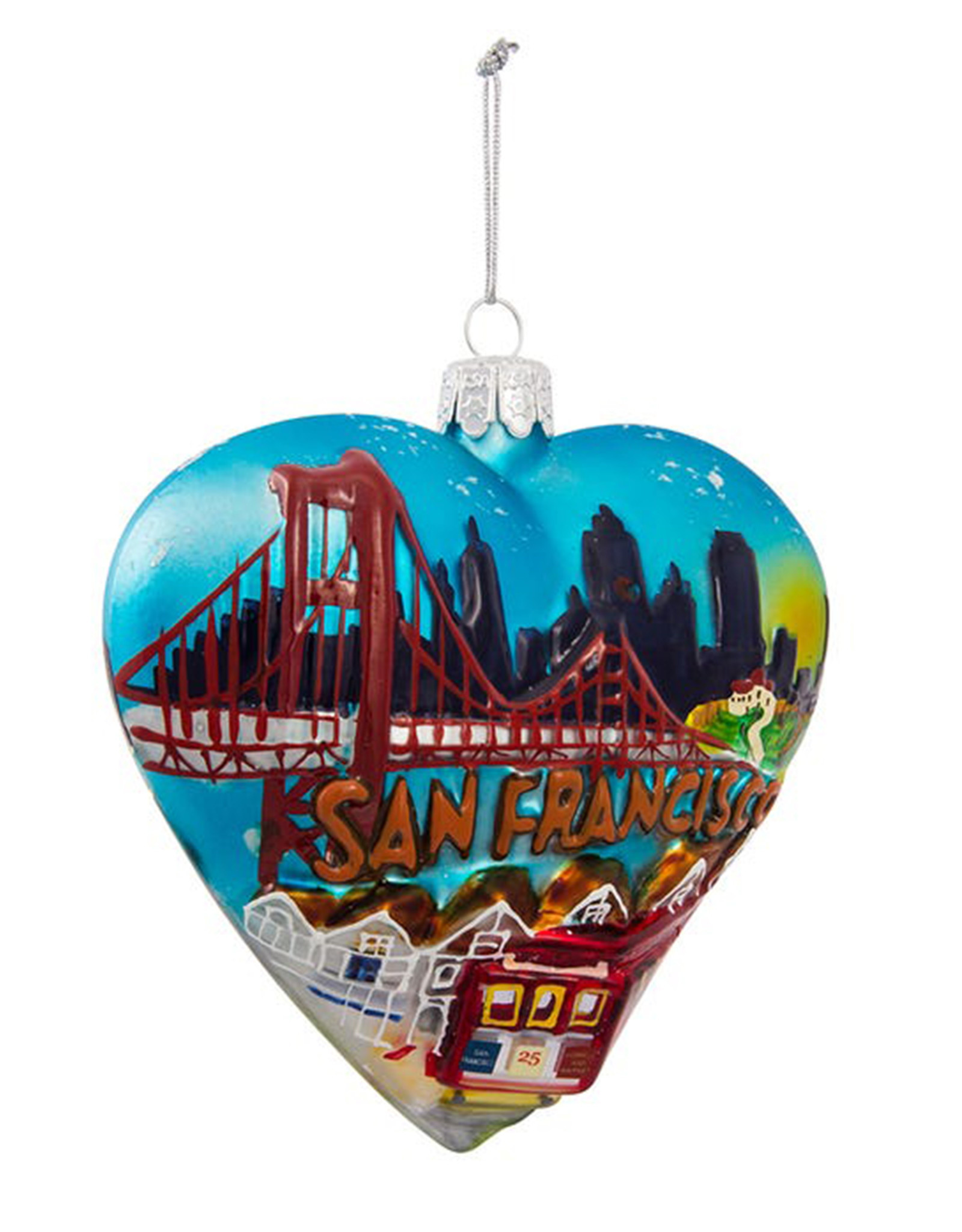 KURT ADLER SAN FRANCISO HEART ORNAMENT