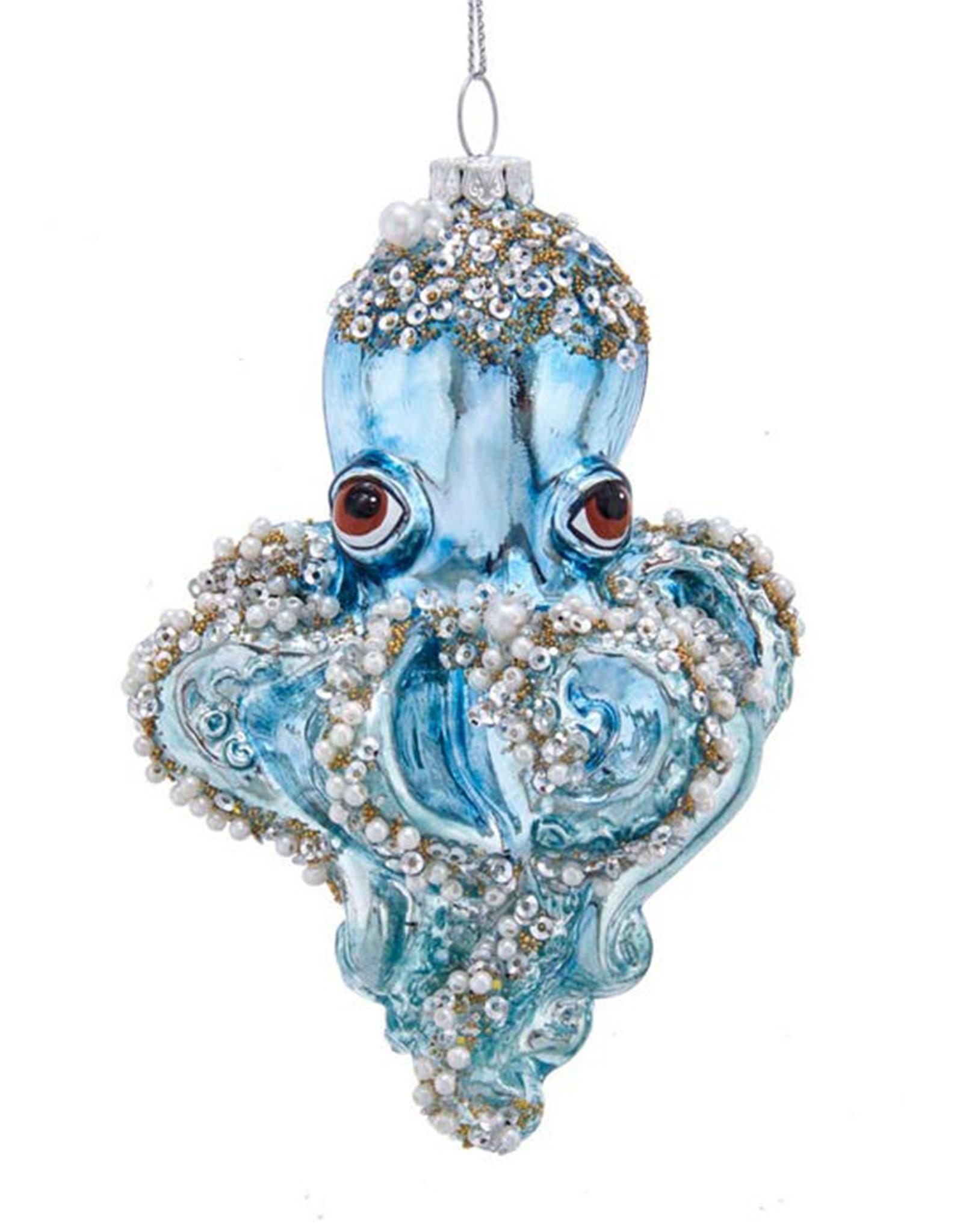 KURT ADLER BLUE OCTOPUS ORNAMENT