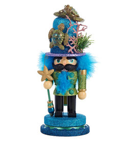 KURT ADLER NUTCRACKER WITH SEA TURTLE HAT