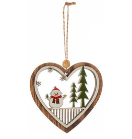 KURT ADLER SNOWMAN HEART ORNAMENT