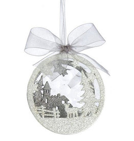 KURT ADLER CHURCH WINTER SCENE ORNAMENT