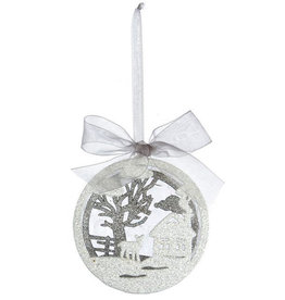 KURT ADLER HOUSE WINTER SCENE ORNAMENT