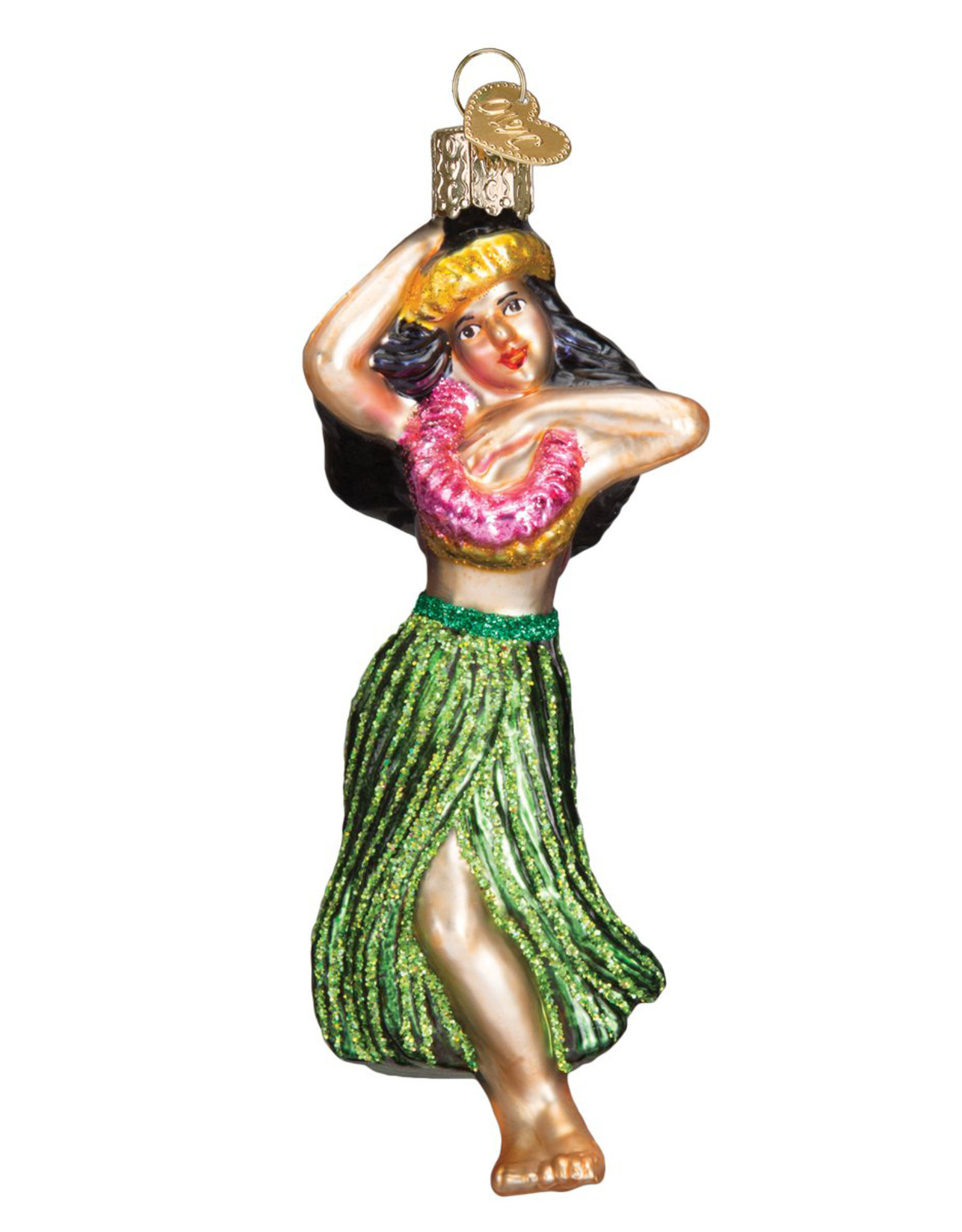 OLD WORLD CHRISTMAS HULA DANCER ORNAMENT