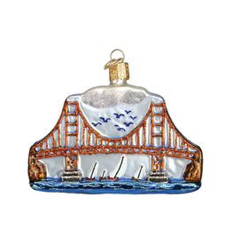 OLD WORLD CHRISTMAS GOLDEN GATE BRIDGE ORNAMENT