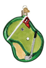 OLD WORLD CHRISTMAS PUTTING GREEN ORNAMENT