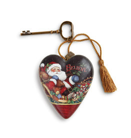 DEMDACO BELIEVE SANTA ART HEART