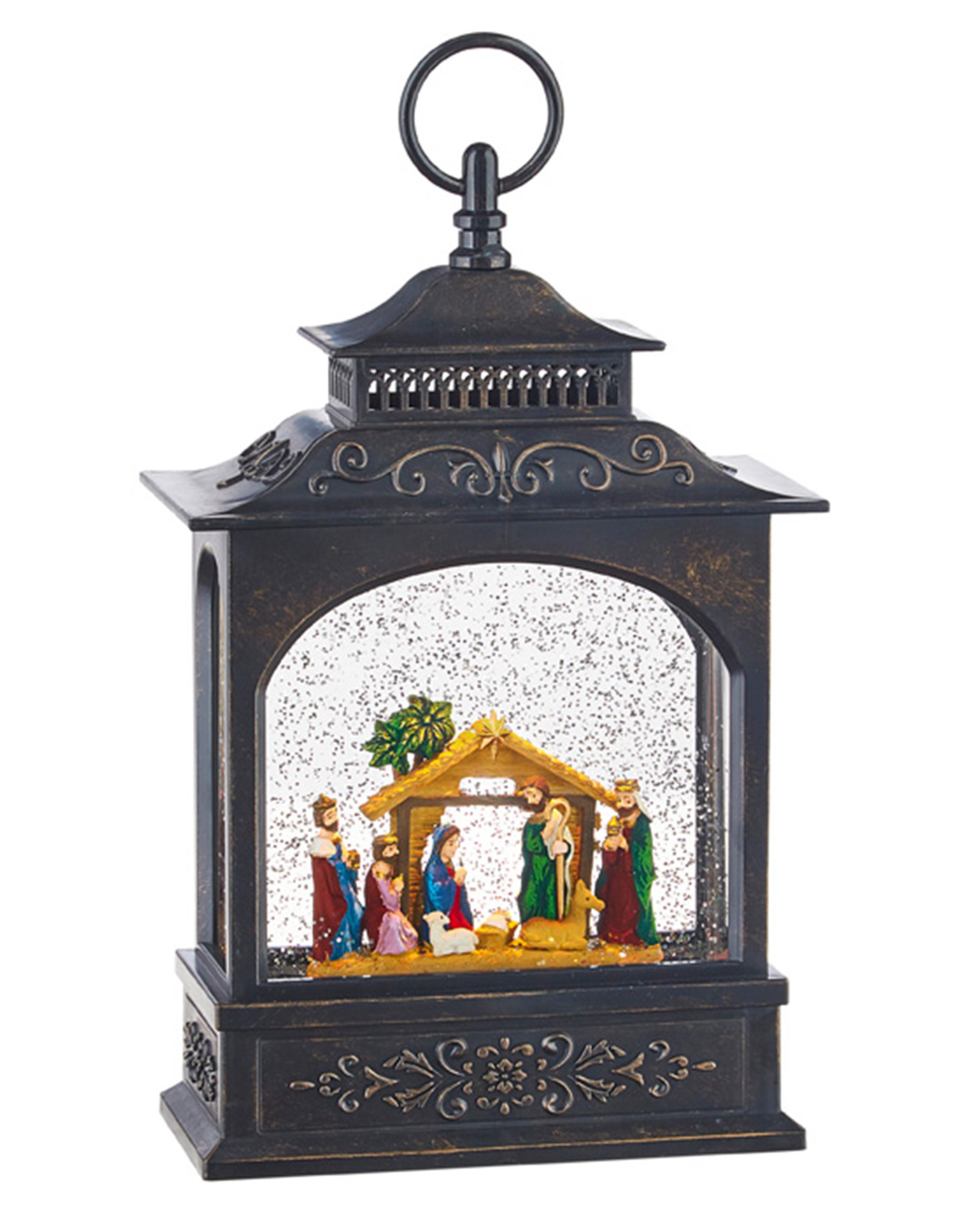 RAZ IMPORTS NATIVITY LIGHTED WATER LANTERN