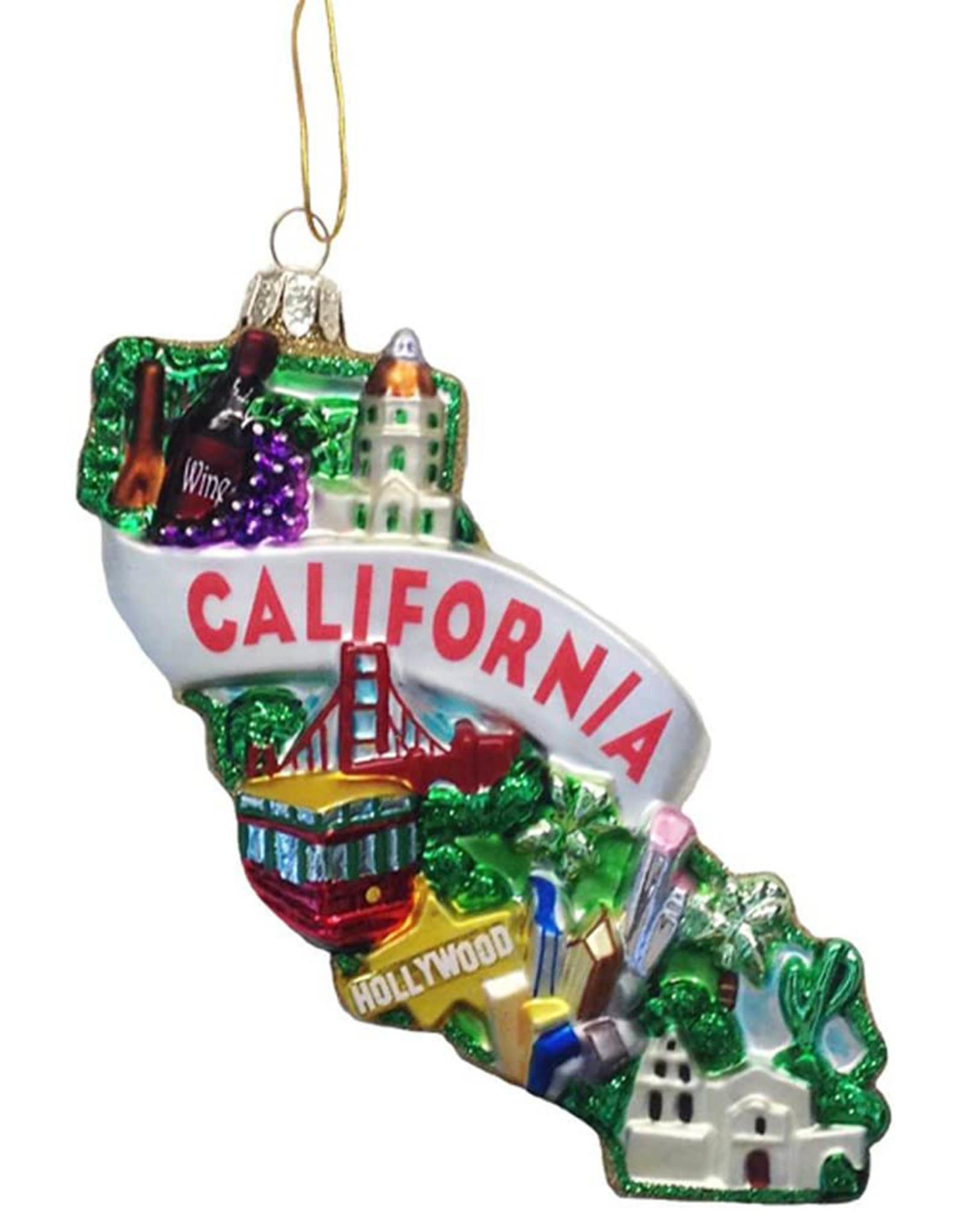 KURT ADLER CALIFORNIA ORNAMENT