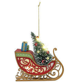 DEMDACO LIT SLEIGH WITH TREE ORNAMENT