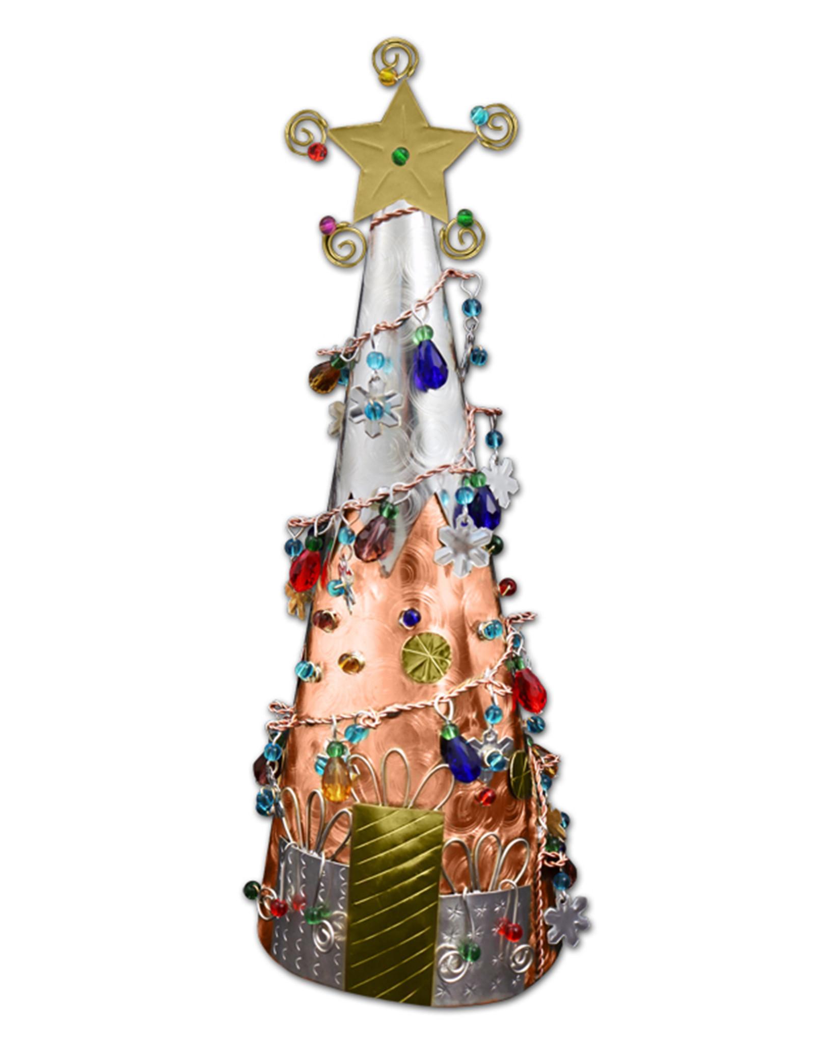 PILGRIM IMPORTS MEDIUM COPPER CHRISTMAS TREE