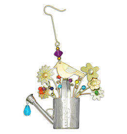 PILGRIM IMPORTS BIRD WATERING CAN ORNAMENT