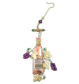 PILGRIM IMPORTS WINE BOTTLE ORNAMENT