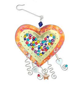 PILGRIM IMPORTS GEM HEART ORNAMENT