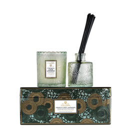 VOLUSPA FRENCH CADE LAVENDER CANDLE & DIFFUSER GIFT SET