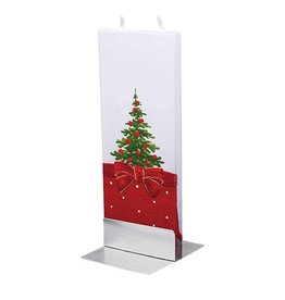 FLATYZ CHRISTMAS TREE BOW CANDLE
