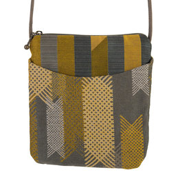 MARUCA LATTICE GREY CROSSBODY CUPCAKE BAG