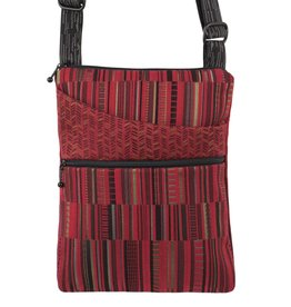 MARUCA BARK CLOTH CROSSBODY POCKET BAG