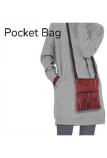 MARUCA BARK CLOTH CROSSBODY POCKET BAG