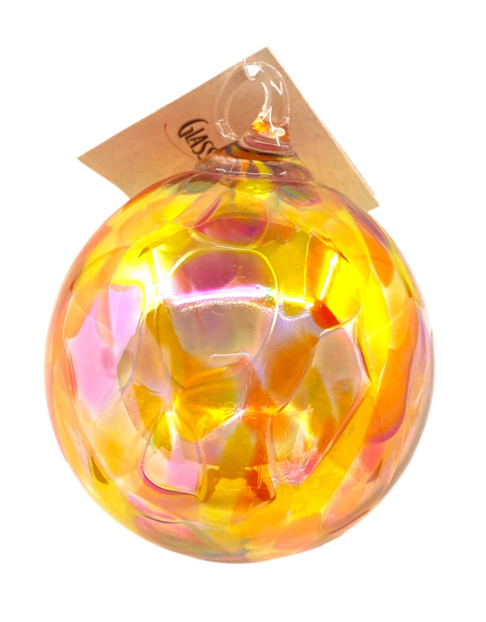 GLASS EYE SUNSET BEAUTY ORCHID ORNAMENT