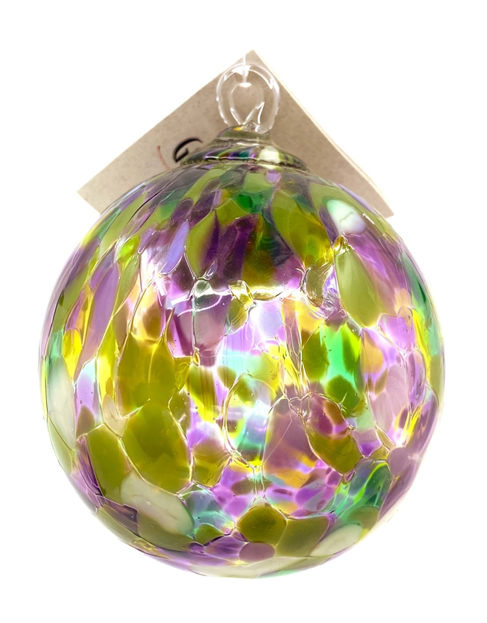GLASS EYE WATER LILY ORNAMENT