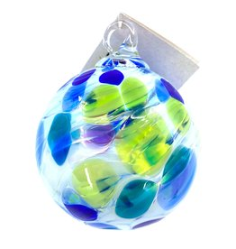 GLASS EYE ISLAND FLURRY ORNAMENT