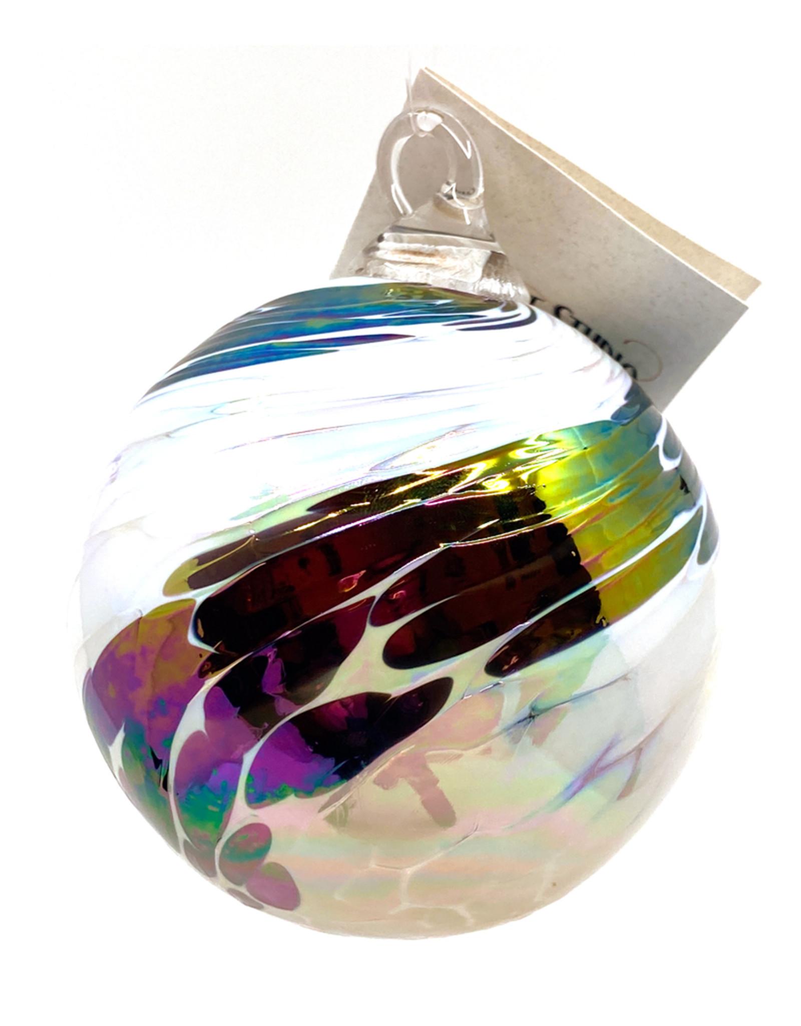 GLASS EYE BLACK ICE ORNAMENT