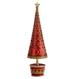 DEKORASYON LARGE FLEUR DE LIS TREE WITH DRUM BASE