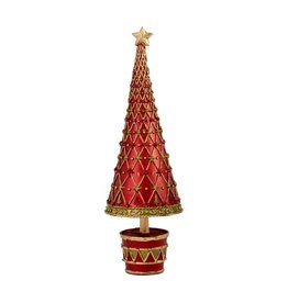 DEKORASYON MEDIUM FLEUR DE LIS TREE WITH DRUM BASE