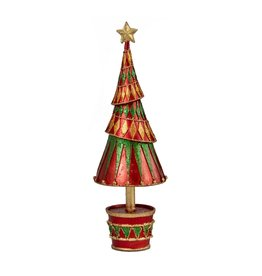 DEKORASYON MEDIUM CARNIVAL TREE WITH DRUM BASE
