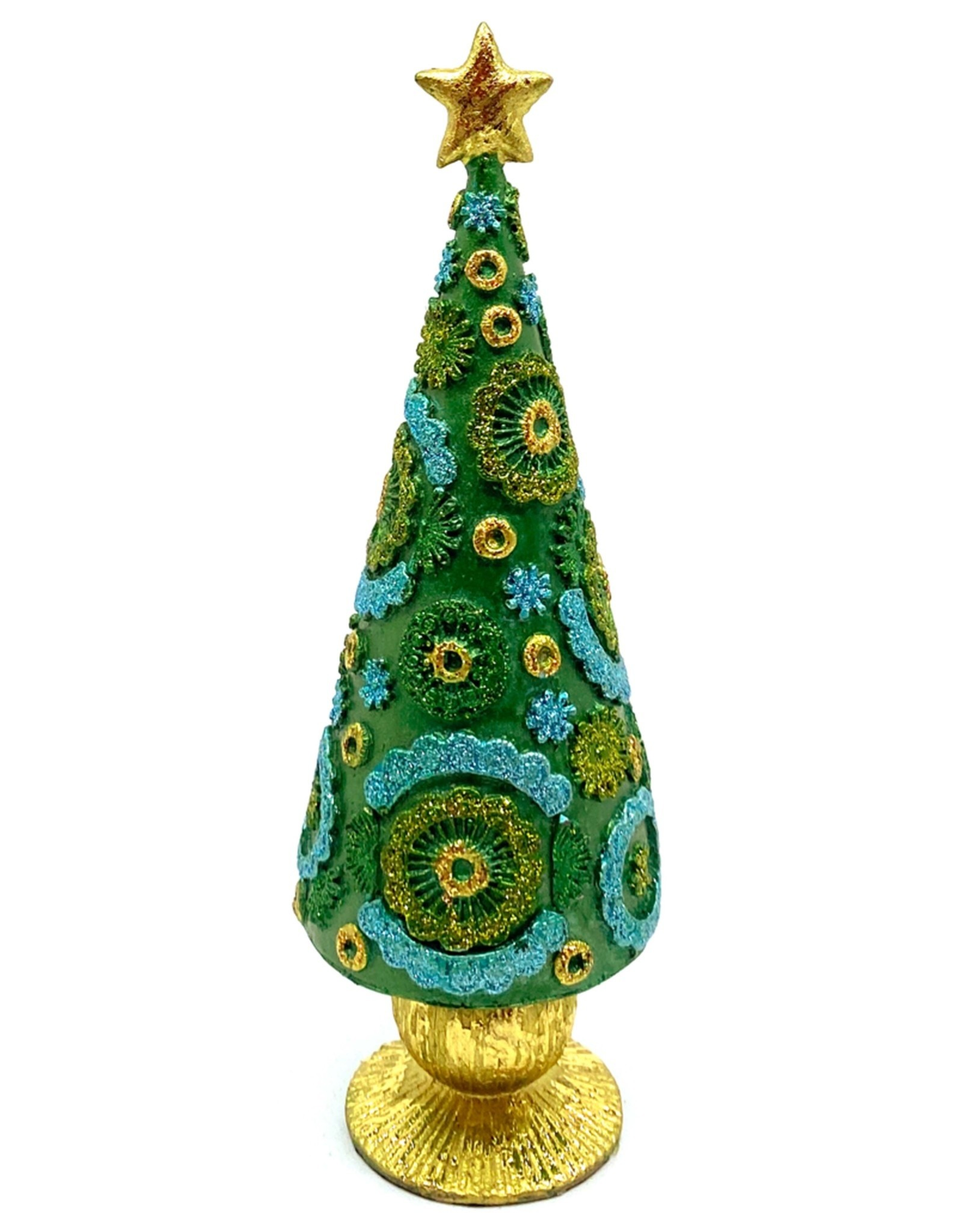DEKORASYON SMALL BLOSSOM CONE TREE WITH STAR