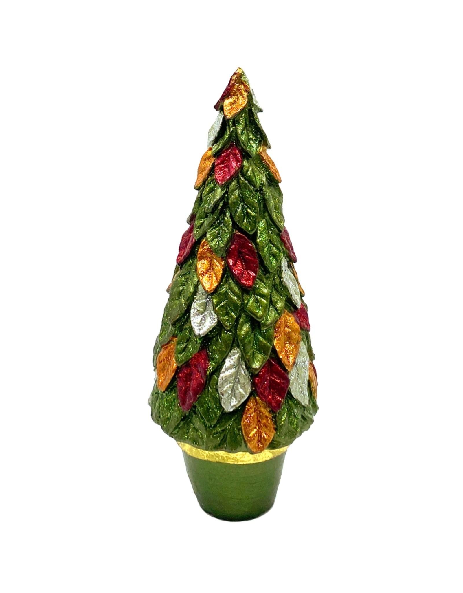 DEKORASYON SMALL LEAFY CONE TREE