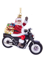 KURT ADLER SANTA MOTORCYCLE ORNAMENT