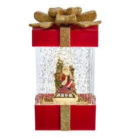 KURT ADLER SANTA SLED LED WATER GIFT BOX