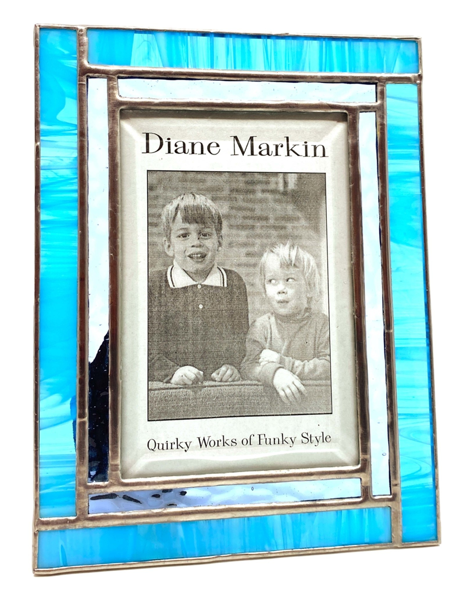 DIANE MARKIN 4X6 WISPY WINDOW BLUE PICTURE FRAME