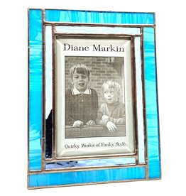 DIANE MARKIN 4X6 WISPY WINDOW BLUE PICTURE FRAME