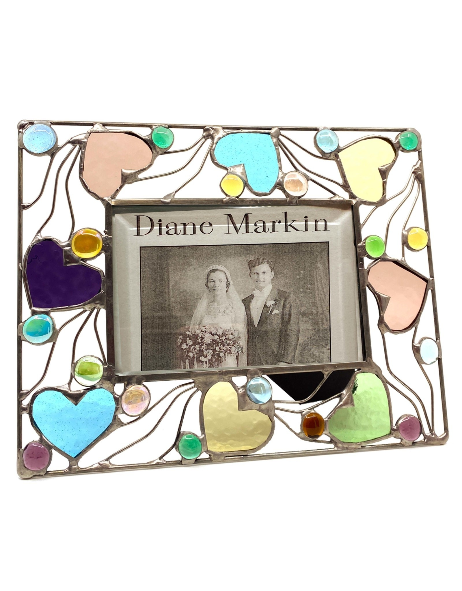 DIANE MARKIN 4X6 HAPPY HEARTS PASTEL PICTURE FRAME
