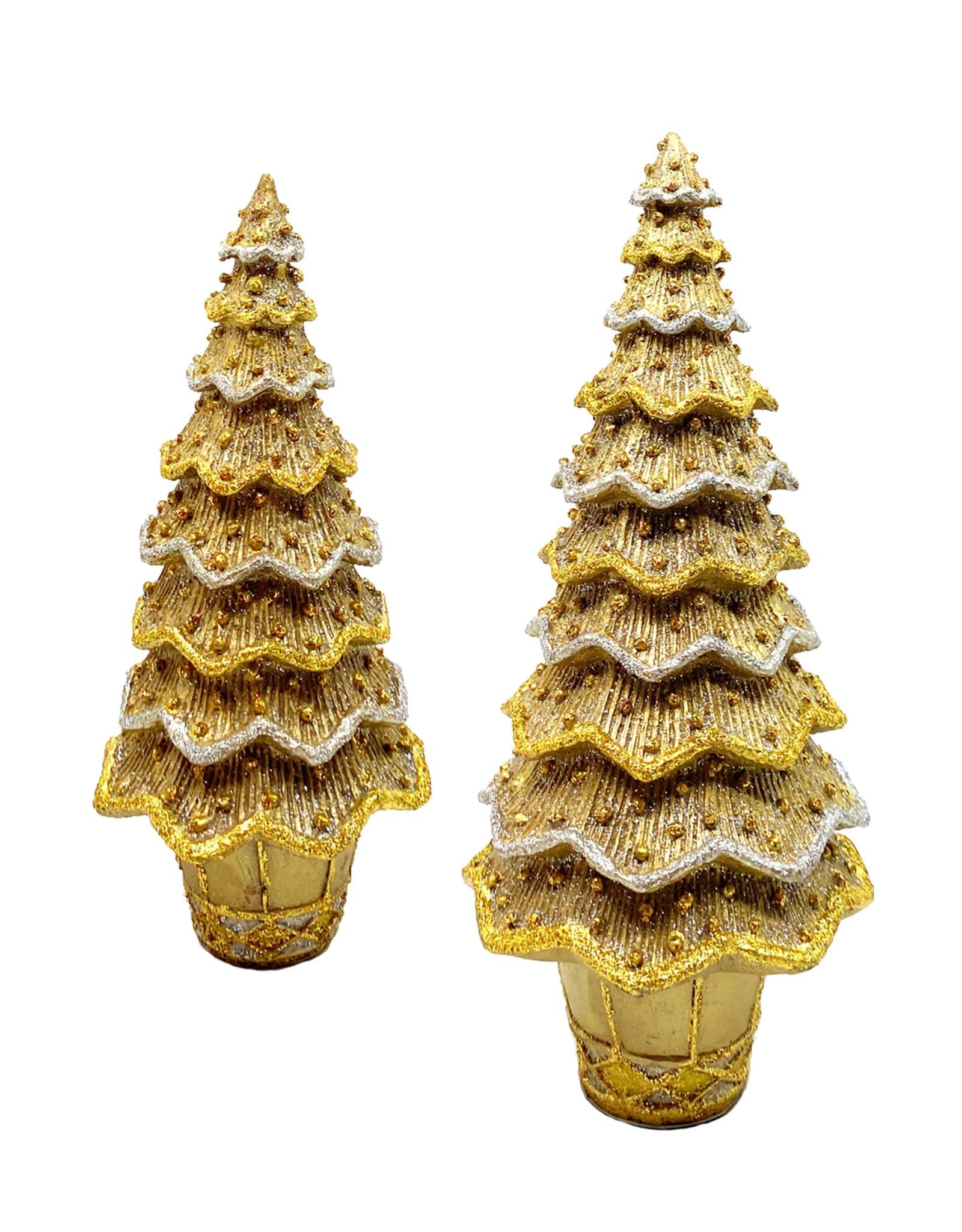 DEKORASYON MEDIUM LAYERED BEADED NEO CONE TREE