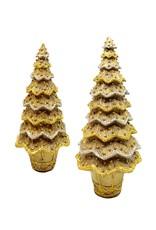 DEKORASYON SMALL LAYERED BEADED NEO CONE TREE