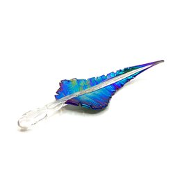 ROMEO GLASS IRIDESCENT GLASS FEATHER I