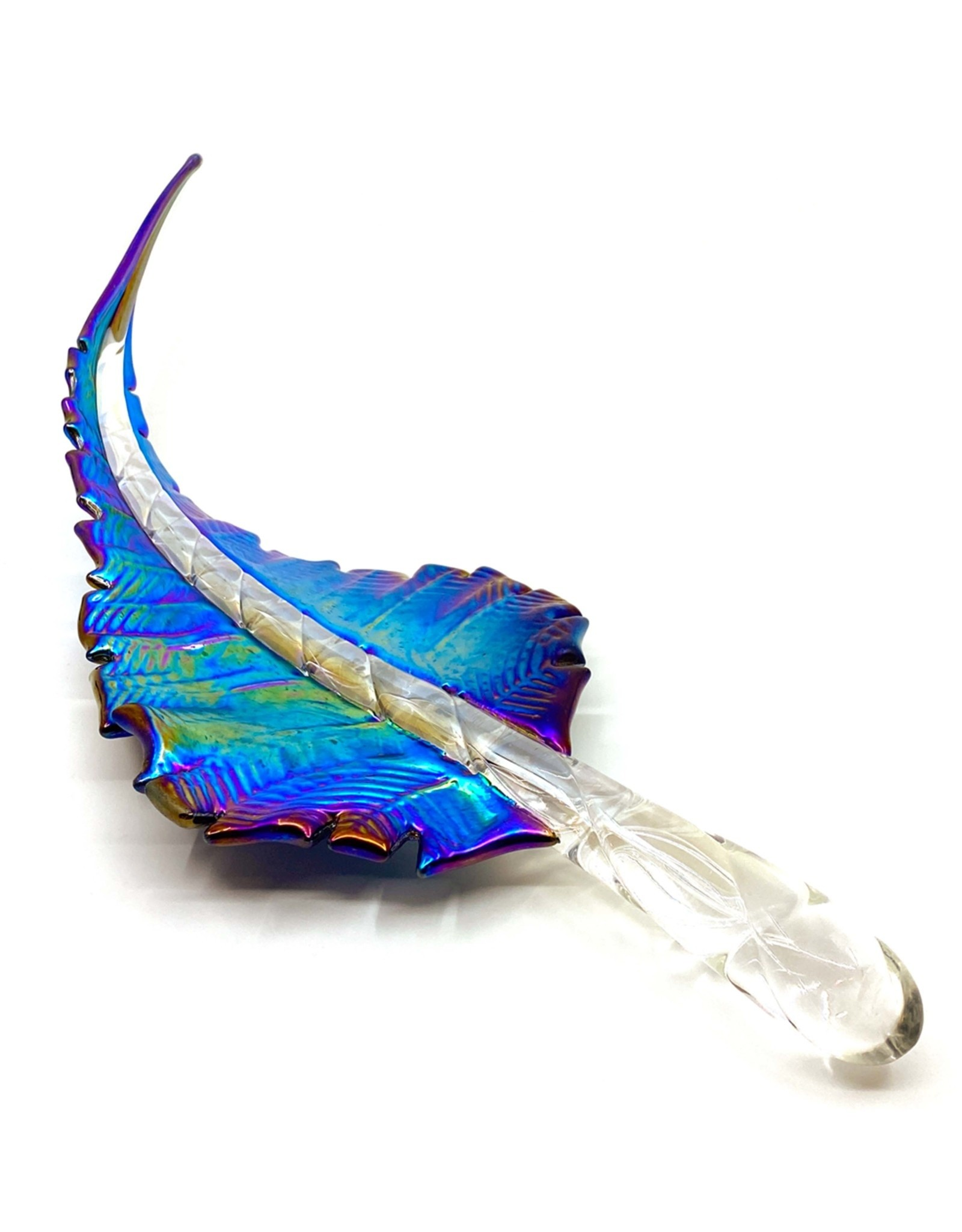 ROMEO GLASS IRIDESCENT GLASS FEATHER II