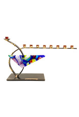 GARY ROSENTHAL COLLECTION GLASS CURVED MENORAH