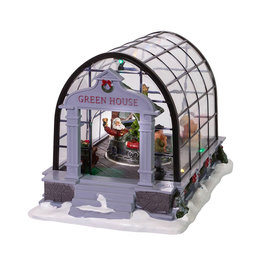 KURT ADLER MUSICAL HOLIDAY GREENHOUSE