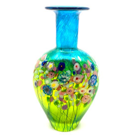 ROBERT HELD FLOWER BOUQUET SMALL FLAT FLASK VASE